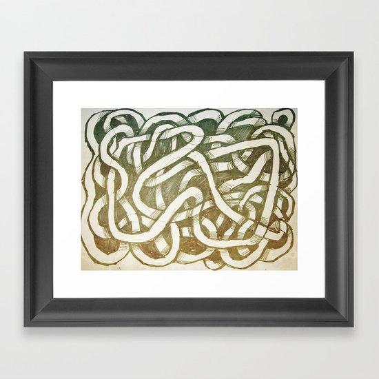 thread loop Framed Art Print