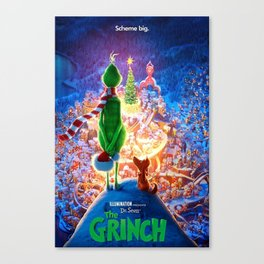 Dr. Seuss The Grinch Christmas Gift Canvas Print