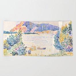 Cap Nègre by Henri-Edmond Cross 1909, French Beach Towel