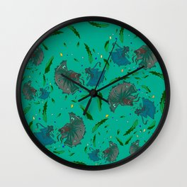 Angry Little Fish Pattern Wall Clock
