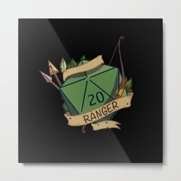 Ranger D20 Fantasy Dice Metal Print