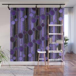 Retro Chic lilac Wall Mural