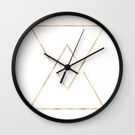 Mandala Gold Geometric Eye Wall Clock