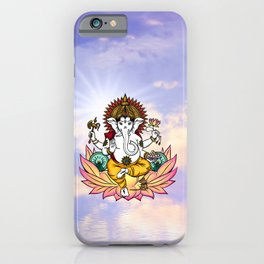 Ganesha in a Lotus iPhone Case