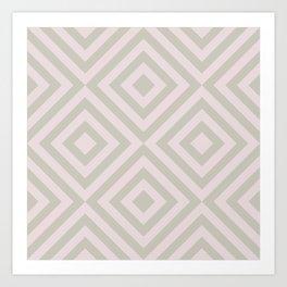 MONO:CHROMA Geometrica Earthy Pink Art Print