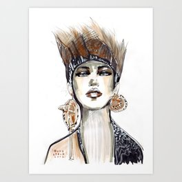 Punk fashion illustration  Art Print