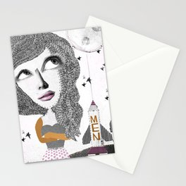 If we can put one man on the moon... why not them all? Stationery Cards