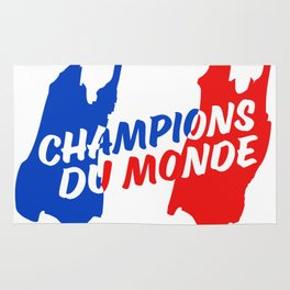World Champions French Soccer Football Rug