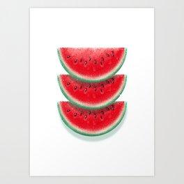 Slices of watermelon Art Print