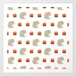 Sharkbark's Burgers - Pattern Art Print