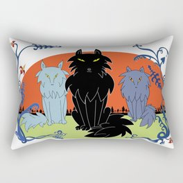 Fairy tale-like wolves Rectangular Pillow