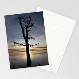 Shadow tree at dawn - Khövsgöl Mongolia Stationery Cards