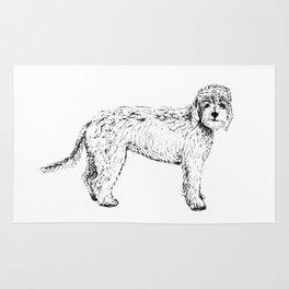 Labradoodle/Goldendoodle Ink Drawing Rug