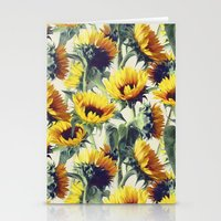 sunflower Stationery Cards featuring Sunflowers Forever by micklyn