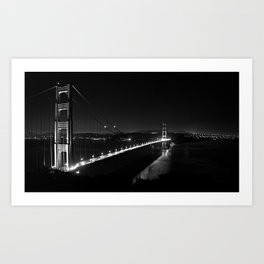 Golden Gate Night Art Print