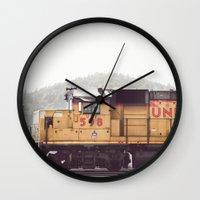 train Wall Clocks featuring Train by Kristine Ridley Weilert