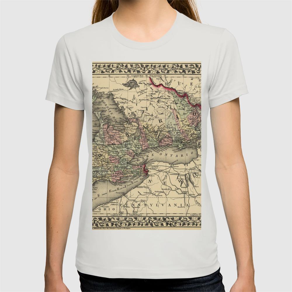 Map Of Ontario 1874 T-shirt