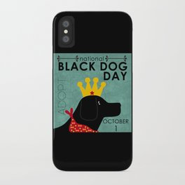 Black Dog Day Royal Crown iPhone Case