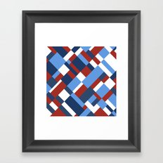 Map 45 Red White and Blue Framed Art Print