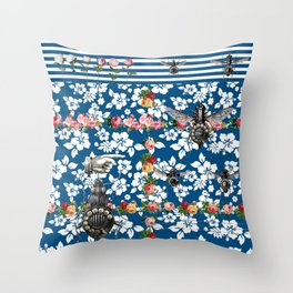 Rotary Bug on The Canal Throw Pillow