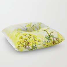 Tansy and Great mullein Floor Pillow