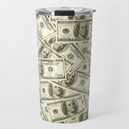 100 dollar bills Travel Mug