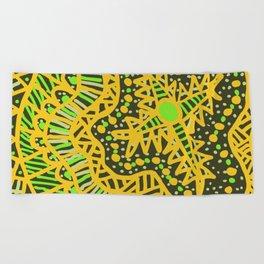 Doodle 16 Yellow Beach Towel