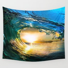 Glowing Wave Wall Tapestry