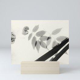 Forgotten Leaves on Plastic Roof Abstract Mini Art Print