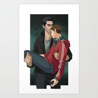 sterek Art Prints featuring Sterek by callahaa