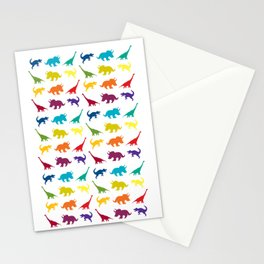 Dino Parade Stationery Cards