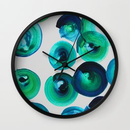 Ocean swirls Wall Clock