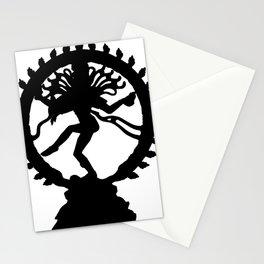 Dancing Shiva Lord Nataraja Nataraja silhouette black Stationery Cards