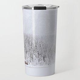 blinded by the white // lake louise Travel Mug