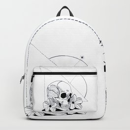 Geometric Skull Backpack