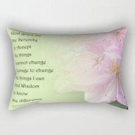 Serenity Prayer Pink Rhododendrons Rectangular Pillow
