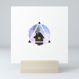 evening home Mini Art Print