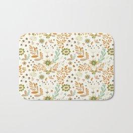 Little Creme Garden Flowers Bath Mat