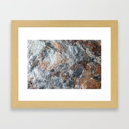 Slate Iron Rock Pattern (Norway) Framed Art Print