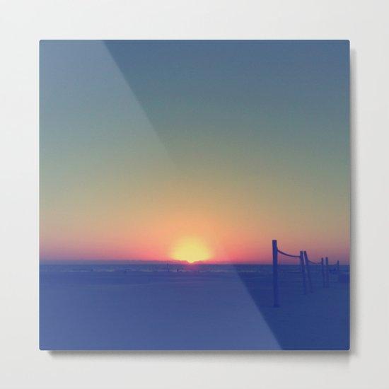 Distant Sunset Metal Print
