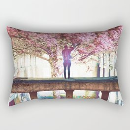 Abandoned Tree in an Abandoned Warehouse Rectangular Pillow
