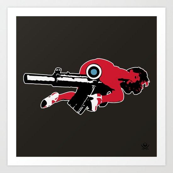 Girl Gun Art Print