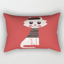 Mark the cat goes to Paris Rectangular Pillow