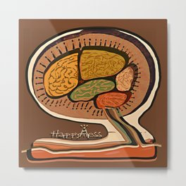 Terracotta HappyMess #society6 #buyart Metal Print
