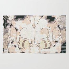 Utagawa Kuniyoshi - Cats Fifty Three Stations Of Tokaido Rug