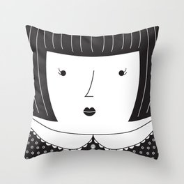 Lisbon Girl Throw Pillow