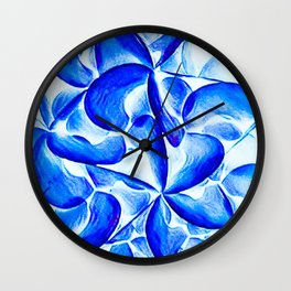 Turquoise in Bloom Wall Clock