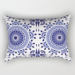 BLUE AND WHITE - PAISLEY - GEOMETRIC SHAPES Rectangular Pillow