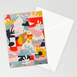 Abstraction in Amalfi / Mid-Century Colorful Shapes Stationery Cards