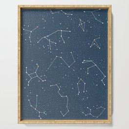 Star night constellations Serving Tray